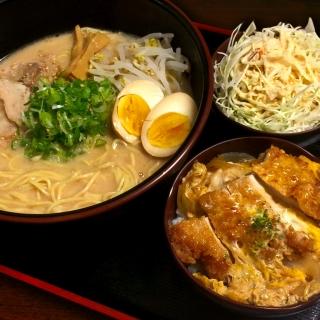 Daikoku Ramen + small pork cutlet bowl
