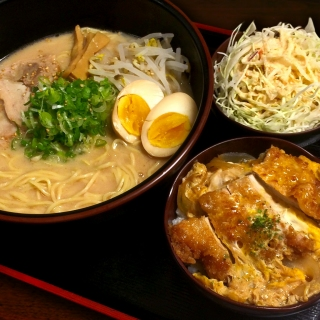 Daikoku Ramen + small pork cutlet bowl