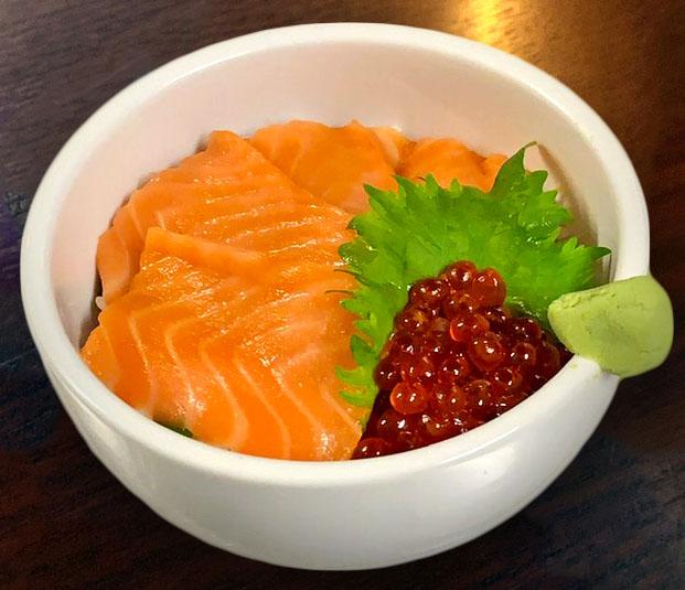 Salmon Sashimi & Ikura Bowl