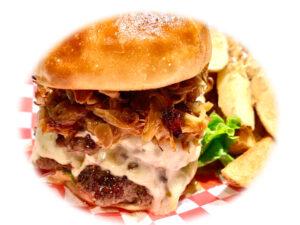 T.Onion Garlic W Cheese Burger w/Homemade Fries