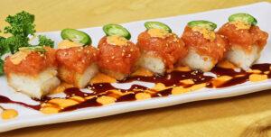 Crispy Rice with Spicy Tuna Or Salmon