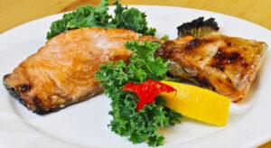 Grilled Salmon Collar