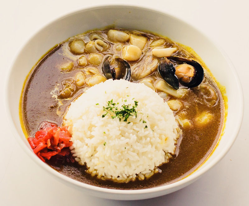 Curry Rice with Seafood