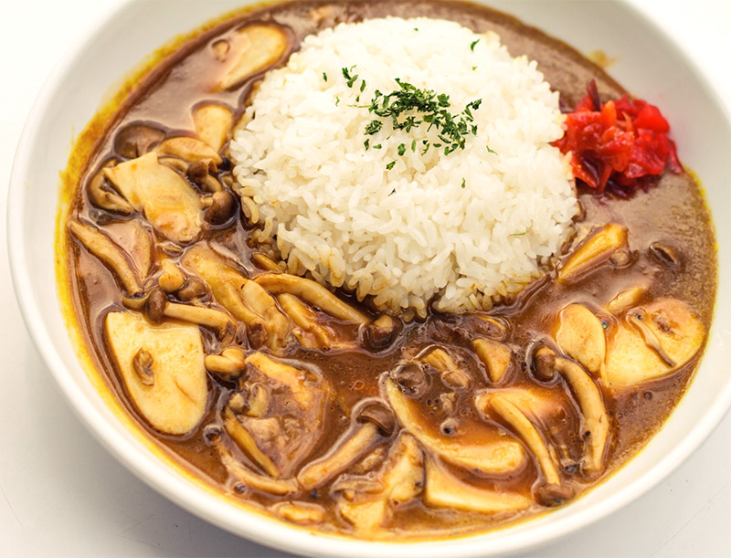 Curry Rice with Mushroom