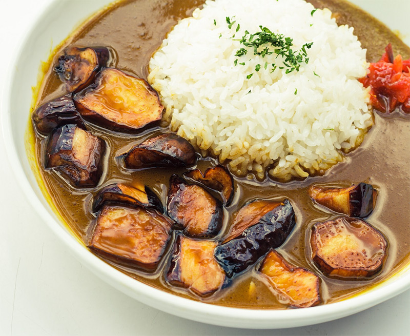 Curry Rice with Eggplant