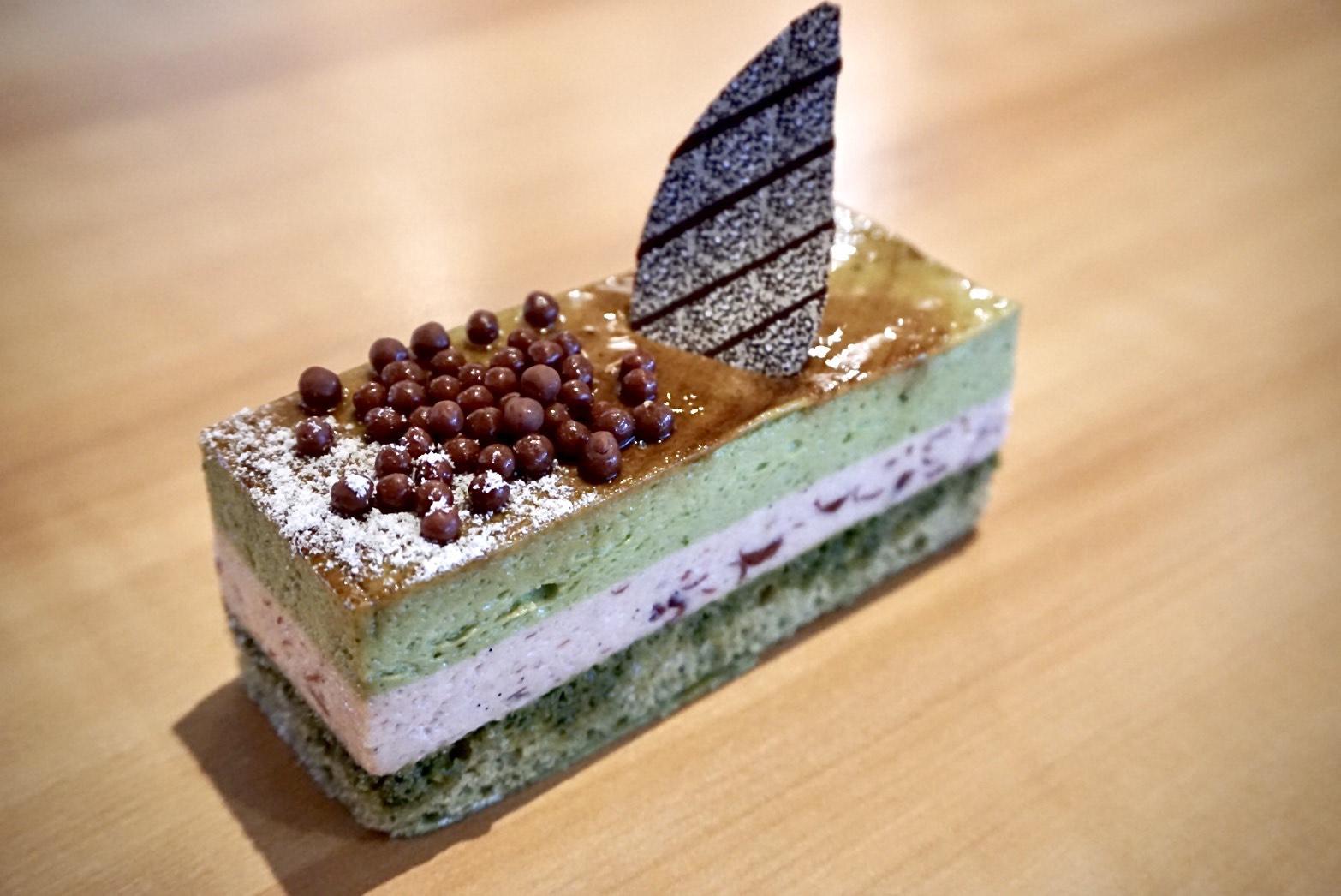 Green Tea & Azuki Cake