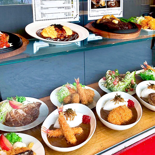 Variety of food displayed
